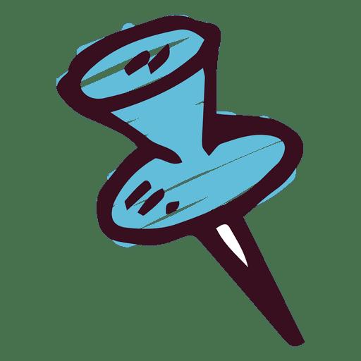 Icono de pin doodle