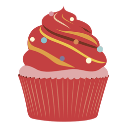 Red velvet cupcake illustration