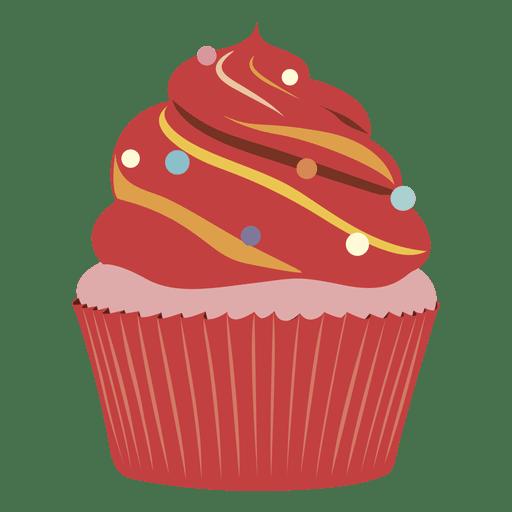 Red velvet cupcake illustration Transparent PNG