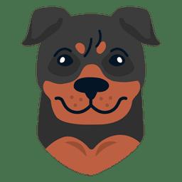 Ilustración de rottweiler