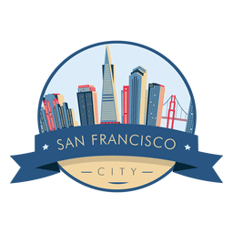 San francisco skyline badge