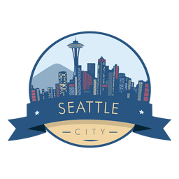 Seattle skyline badge