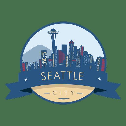 Seattle skyline badge Transparent PNG