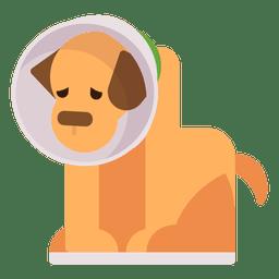 Ilustración de cachorro enfermo