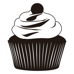 Silhouette of cupcake illustration