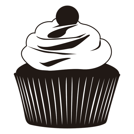 Silhouette of cupcake illustration Transparent PNG