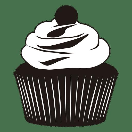 Silueta, de, cupcake, ilustração Transparent PNG