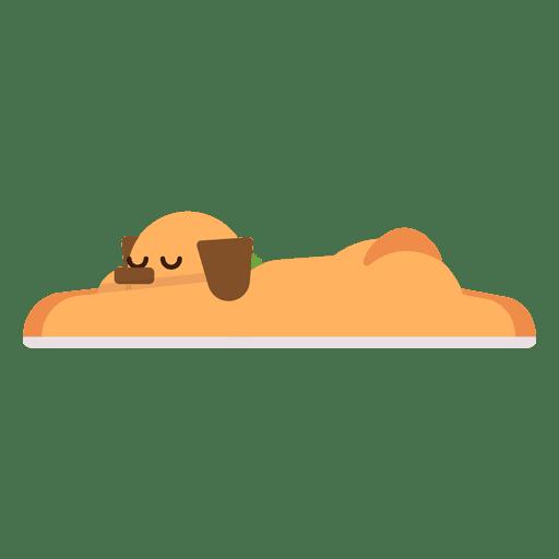 Sleeping dog illustration
