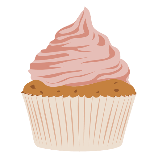 Strawberry cupcake illustration Transparent PNG