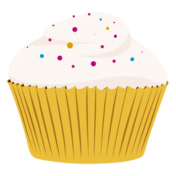 Vanilla cupcake illustration