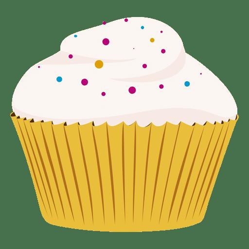 Vanilla cupcake illustration Transparent PNG