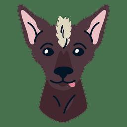 Ilustración de xoloitzcuintle