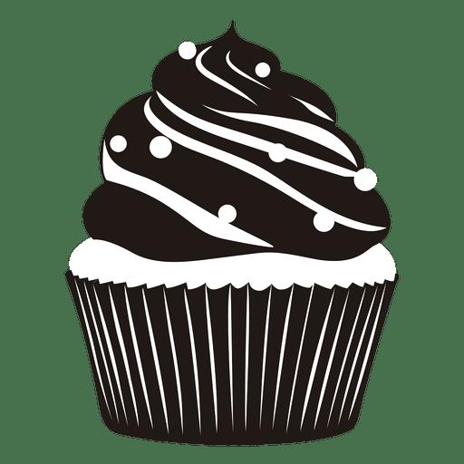 Ilustración de delicioso cupcake Transparent PNG