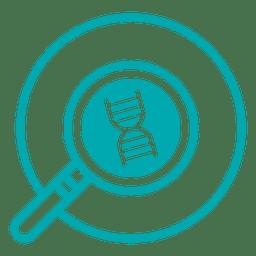 DNA-Forschung Schlaganfall-Symbol