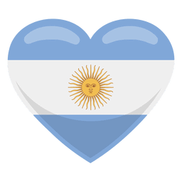 Argentina heart flag