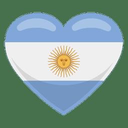 Bandeira do coração de Argentina