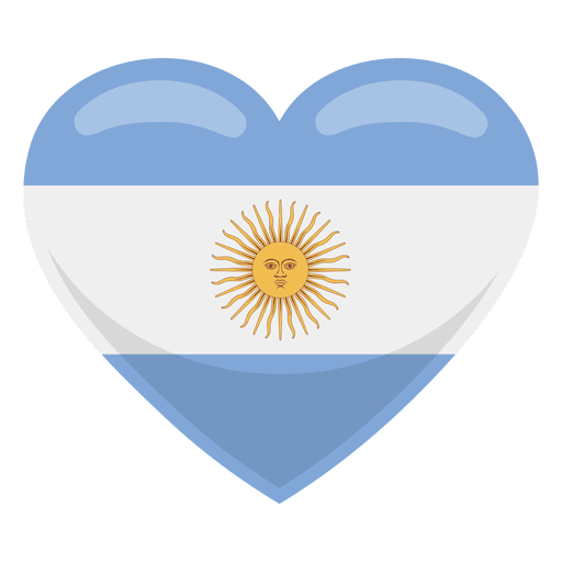 Argentina heart flag Transparent PNG