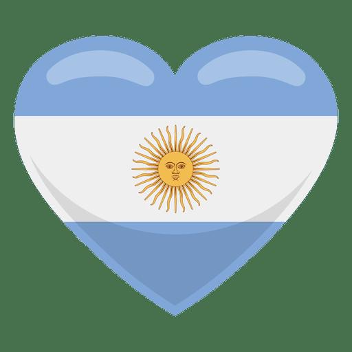 Bandera del corazon argentina Transparent PNG