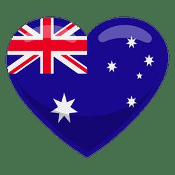 Bandeira do coração de Austrália