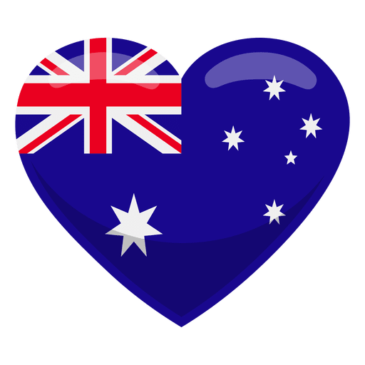 Australia heart flag Transparent PNG