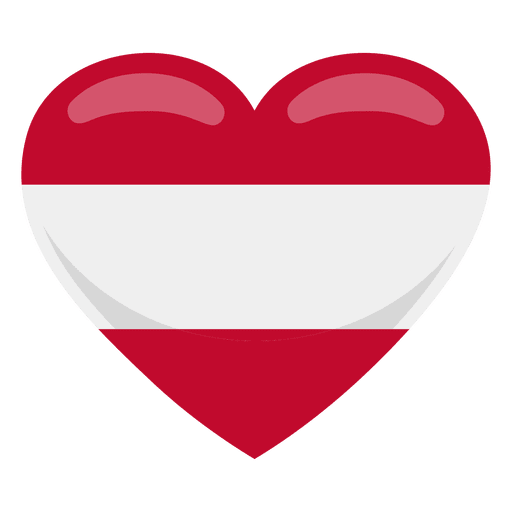 Austria heart flag Transparent PNG