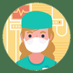 Personaje médico de la insignia
