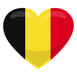 Bandeira do coração de Bélgica