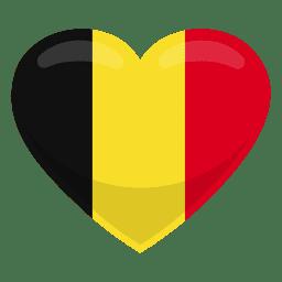 Bandera del corazon de bélgica
