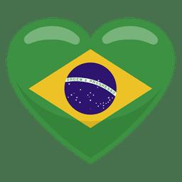 Brazil heart flag