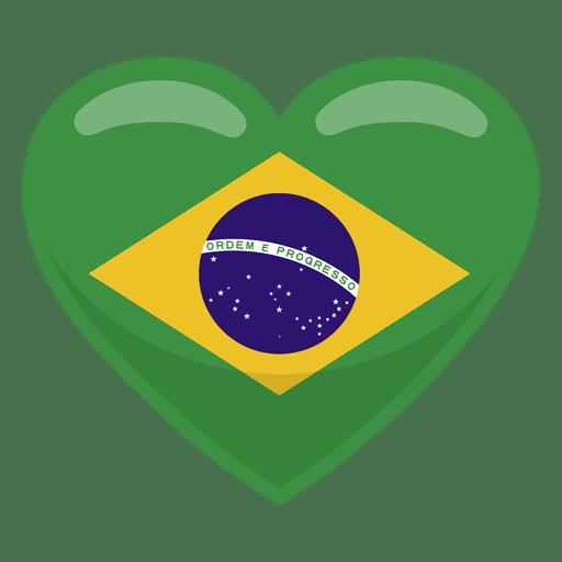 Bandera del corazon de brasil Transparent PNG