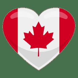 Bandeira do coração de Canadá