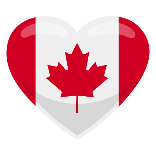 Canada heart flag Transparent PNG