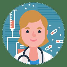 Carácter médico mujer