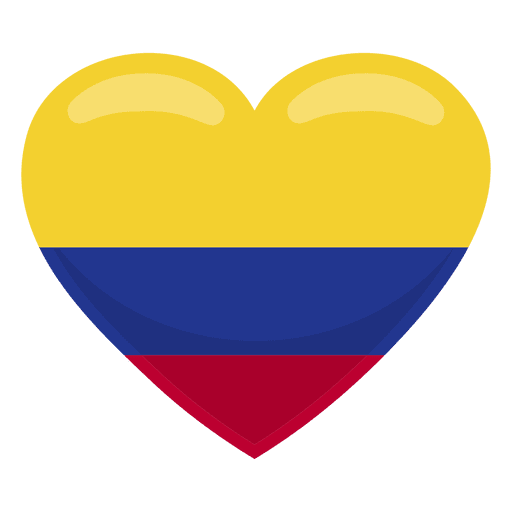 Colombia heart flag Transparent PNG