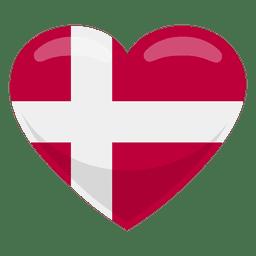 Bandeira do coração de Dinamarca