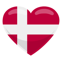 Denmark heart flag