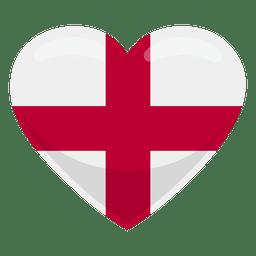 Bandeira do coração de Inglaterra
