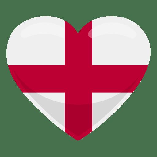 England heart flag Transparent PNG