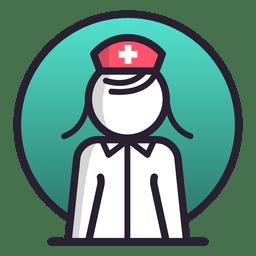 Icono de enfermera femenina