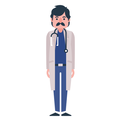 Flat doctor character illustration Transparent PNG