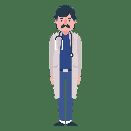 Flat doctor character illustration