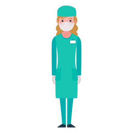 Flat nurse character