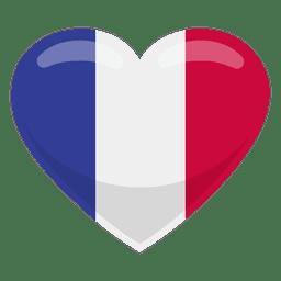 Bandera del corazón de Francia