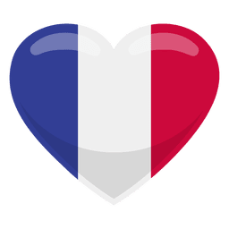 France heart flag