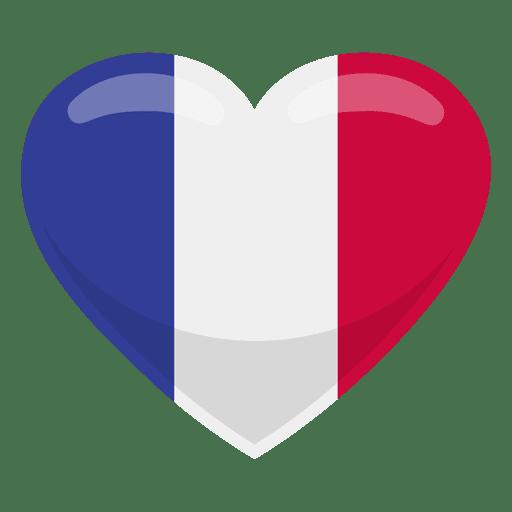 Bandera del corazon de francia Transparent PNG