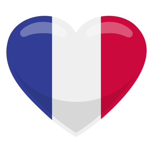 France heart flag Transparent PNG