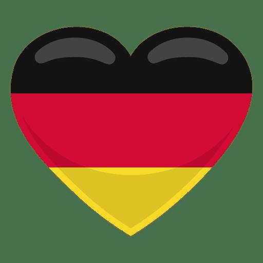 Bandera del corazón de Alemania
