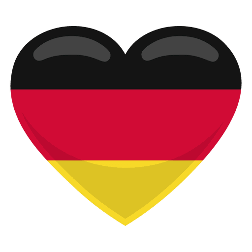 Germany heart flag Transparent PNG