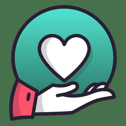 Mão segurando coração Transparent PNG