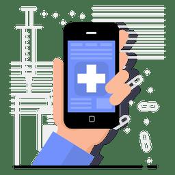 Design de aplicativo de saúde